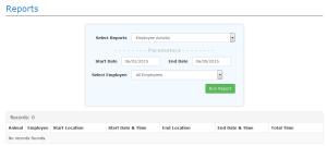 Employee Activity Report